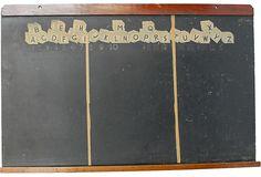 vintage school chalkboard
