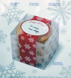 Clear Christmas Treat Boxes