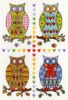 Bothy Threads - Four Owls  #crossstitch #crossstitching #crossstitchkits #bothythreadscrossstitchkits