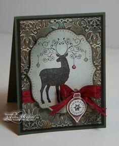 Vintage Christmas Deer by Crazy4Stampin - Cards and Paper Crafts at Splitcoaststampers