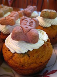 Dog Cupcakes    #treats #handmade #DIY