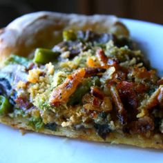 Green Bean Casserole Pizza