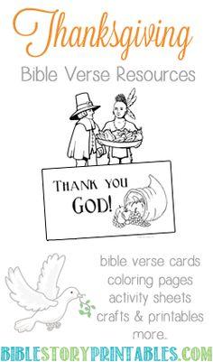 Thanksgiving Printables on Bible Story Printables