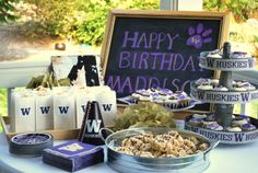 UW Huskies Birthday party or a football party