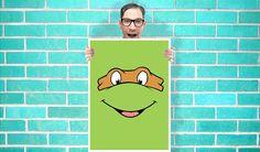Teenage Mutant Ninja Turtles Michelangelo Mike or Mikey - Wall Art Print Poster 16x23 Inch -  Quote Art Geekery via Etsy