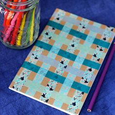 Woven Washi Tape Notebook