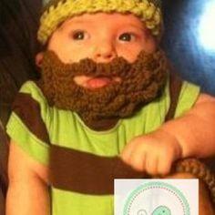 Ahhahahaahhahaahhahaahaaaa Baby Boy Crochet Hat and Beard Set - Cotton - Lime Green, Baby Blue...... | mimisbabies - Children's on ArtFire