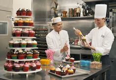 """With the """"Young #Pastry Chef Academy""""  your #children will learn the art of baking and decorating #cupcakes and #cookies in the hotel's pastry kitchen! #sweet #fun #recipes #cookinglessons #PenAcademy"""