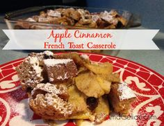 Gluten Free Apple Cinnamon French Toast Casserole