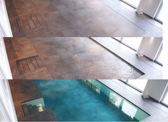 'Hydrofloors' Swimming Pool With Movable Floors