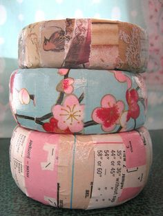 Paper covered bangles