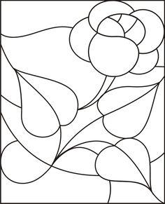 Desenhos Riscos Para Pintar Bordar Painel Vitral 2
