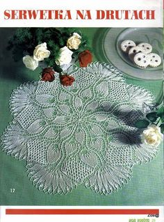 Pretty knit doily & chart