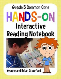 Interactive Reading Notebook Hands-On Fifth Grade Common Core $