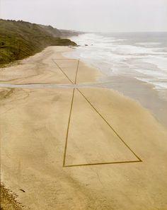 sands, beaches, sand art, at the beach, jim denevan, earth, landart, triangl, land art
