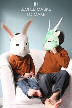 costum, animals, face paintings, paper mask, anim mask, children, denver bronco, halloween masks, kid