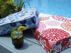 Portable floor box cushion/pillows with zipper tutorial