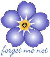 forget me not. Alzheimer's flower