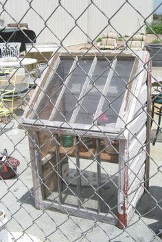 small DIY greenhouse
