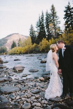 Real bride Alison with her groom Scot at their gorgeous Colorado wedding. Read their story on our blog!