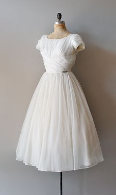50s wedding dress / 1950s dress / Frothy Confection dress