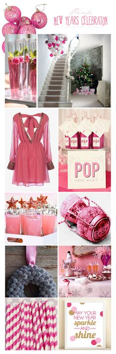 Next year I think I want to host a NYE party...pink, bubbly and fun! More Design Please - MoreDesignPlease - A PINK NEW YEAR!