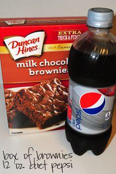 simple: two ingredient brownies