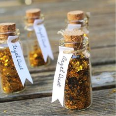 Is it any surprise that we adore glitter? These tiny bottles of angel dust can glam up your gift wrap or stand alone as DIY Christmas gifts. angel dust, craft, mini gift, vbs gift ideas, angels party, diy christmas gifts, diy angels, mini bottles ideas, glitter