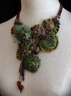 Textile necklace ♥