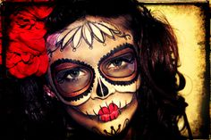 handpainted, sugar skull, day of the dead, facepaint, diy halloween costumes, dia de los muertos, halloween costumes