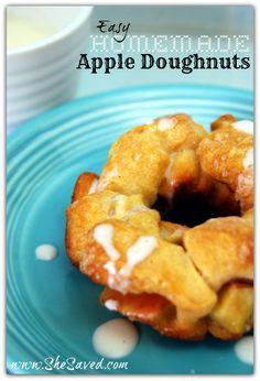Easy Homemade Apple Doughnuts