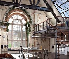 Another person, whose location is unknown, revealed the stunning open-plan loft build into the roof of a church