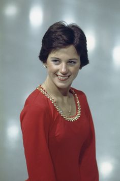 Young Dorothy Hamill shows her smile.