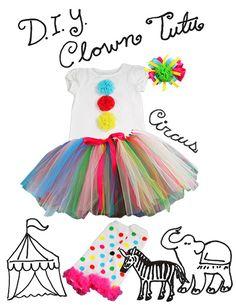 circus costume diy, clown birthday party, clown kids diy, clown costume diy, circus costumes diy, circus costume ideas, clown tutu costume, diy tutu halloween costumes, clown party ideas