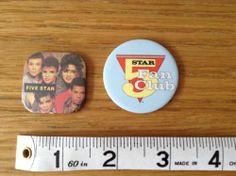 2 Retro FIVE STAR Badges 1980s Fan Club | eBay