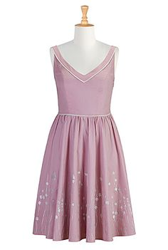 #eshakti #pastel #dresses #cameo #pink #cream #spring #summer #eShakti #eshaktispringiton