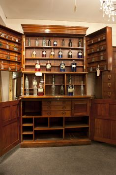 Antique apothecary medicine chest on pinterest for Apothecary kitchen cabinets