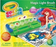New Crayola Color Wonder Magic Light-up Brush Little Mermaid Ariel Disney NIB #Crayola $23.99 Free Shipping