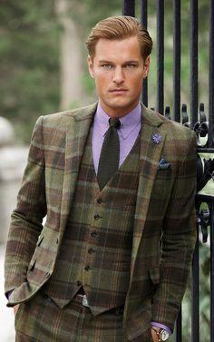 Wonderful colour combination ~ impeccable Ralph Lauren.