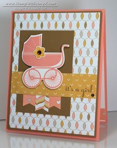 Something For Baby stamp set and matching framelits, Lullaby DSP