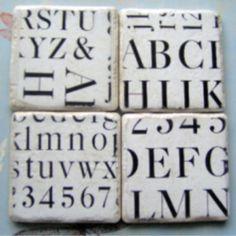 Font coasters.