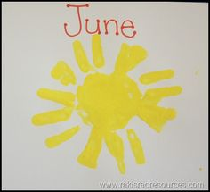 ISM Spotlight – Monthly Handprint Pictures - Tricks to how to make those beautiful handprint portraits that save a munchkin's handprints for mommy and daddy - great keepsake!