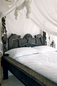 Beautiful carved bed
