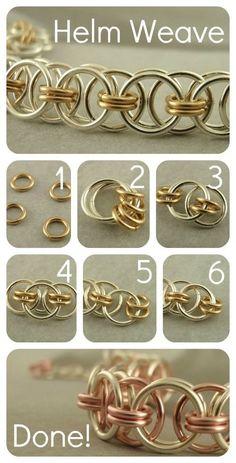 #DIY Helm Weave bracelet - com dois tons