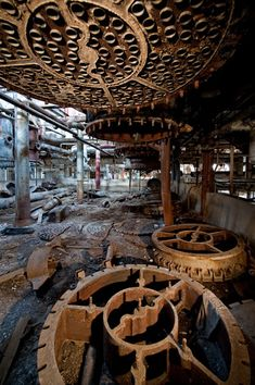 Longmont Sugar Mill by Scott Haefner -- Industrial equipment left behind when the sugar mill closed in the 1970s.