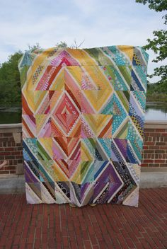 Colourful string quilt