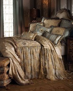 """Crystal Palace"" Bed Linens by Sweet Dreams at Horchow. love it!"