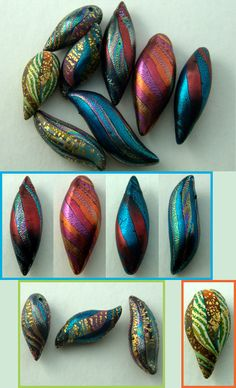 Rita's PolyClay Plays - different kinds of metallic crackle. #polymer clay #tutorial