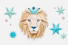 Beautiful paper art of your astrological star sign
