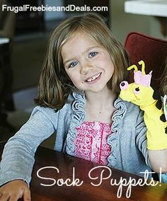 Summer of Easy Crafts: Sock Puppets